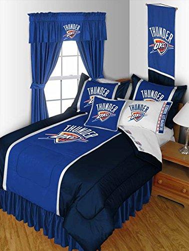 NBA Oklahoma City Thunder Sidelines Comforter, Twin, Bright (Sidelines Twin Comforter)