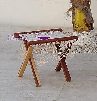 Ottoman woven Mexican Hammock Chair – NYLON Beige Ecru Color