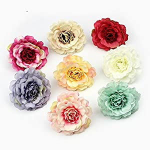 Artificial Flower 20pcs 5cm Heads silk Rose flowers for Wedding Decoration Scrapbooking DIY Gift Box Fake flower 97