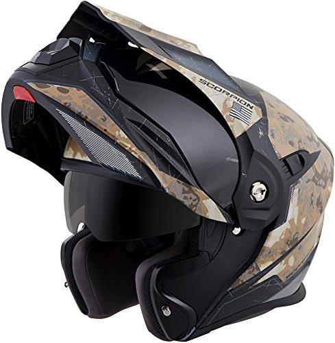ScorpionExo EXO-At950 Unisex-Adult Flip-Up-Style Battleflage Helmet (Sand, Medium)