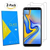[2 Pack] Samsung Galaxy J6+ Plus 2018 6.0' Screen Protector - Tempered Glasses Screen Guard Protector FILM For Samsung Galaxy J6+ Plus