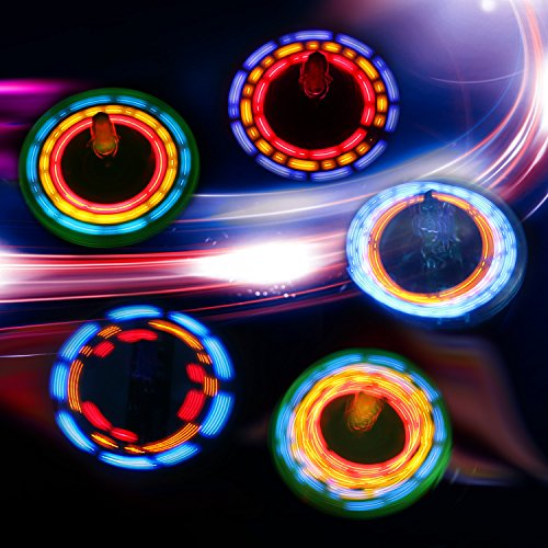 Liberty Imports LED Light Up Mini Spinning Tops Novelty Bulk