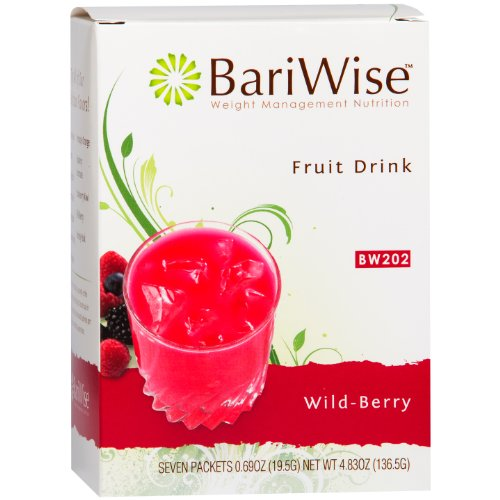 Fruit Flavored Beverage - BariWise High Protein Powder Fruit Drink (15g Protein) / Low-Carb Diet Drinks - Wildberry (7 Servings/Box) - Fat Free, Low Carb, Low Calorie, Sugar Free