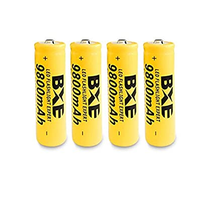 Amazon com: 4PCS BXE 9800mAh Flashlight HeadLamps 18650