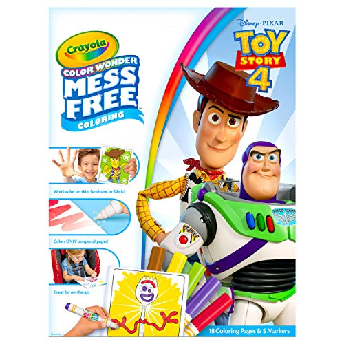 Crayola 75-7008 Wonder Coloring Pages, Mess Free, Toy Story 4 (Story Color Books Toy)