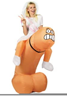 Escapade Inflatable Adult Ride On Costume Hen Night Stag Do (Ride On Willy  Johnson)