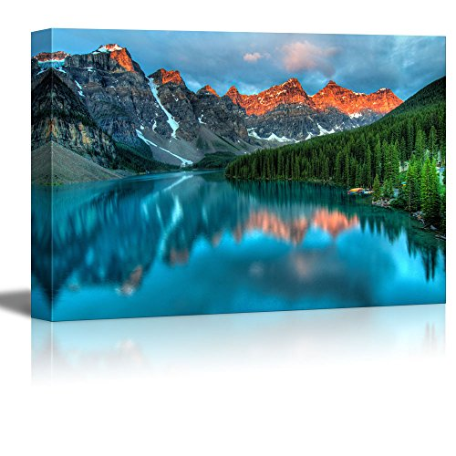 wall26 Canvas Prints Wall Art - Beautiful Scenery/Landscape Moraine Lake During The Morning Sunrise in Banff National Park | Modern Wall Decor/Home Decoration - 32