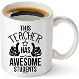 Muggies Teacher Has The Best Students Mug 11oz. Funny Coffee Tea Cup. Unique Fun Christmas , Xmas, Birthday, Mother's Day Gifts For Classroom School Teacher Mom Wife