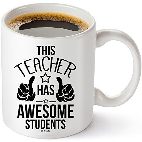 Muggies Teacher Has The Best Students Mug 11oz. Funny Coffee Tea Cup. Unique Funny Christmas, Xmas, Birthday Gifts For School Teacher Mom Wife (Xmas Maths Activities)