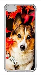 iPhone 5c case, Cute Under The Maple Dog iPhone 5c Cover, iPhone 5c Cases, Hard Clear iPhone 5c Covers