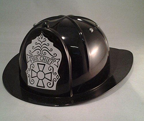 Child Helmet Black Firefighter - Jacobson Hat Company Child's Black Fire Chief Hat