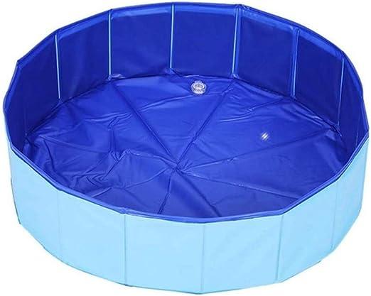 Walcd Piscina Coperta Da Bagno All Aperto Pieghevole Gonfiare Il Bagno Estivo All Aperto Blu 80 X 20 Cm Amazon It Giardino E Giardinaggio