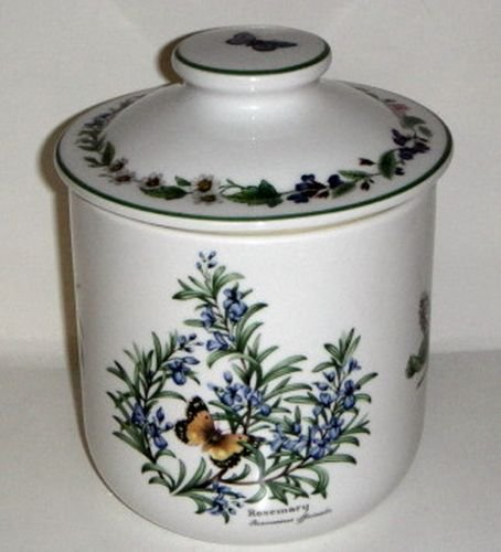 Royal Worcester Herbs Green Trim Canister W/Lid ()