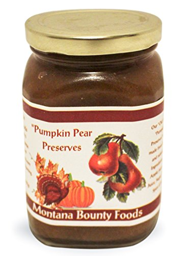 Pumpkin Pear Preserve Breakfast Essential -  9 oz Jar - from Montana Bounty Foods this is Vegan Friendly | Gluten-Free | Non-GMO - Toppings - Desserts - Craft Bread (PPP 9oz)