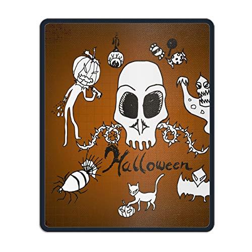 Doodles Halloween Rubber Mouse Pad Desktop Anti Slip Computer Mouse Mat 11.8 x 9.8 -