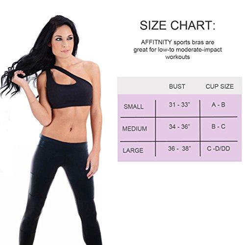 da93f37412 hot sale 2017 Affitnity Women s One Shoulder Sports Bra - rytoj.lt