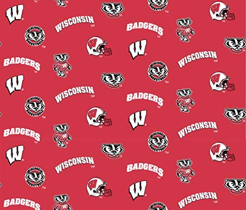 (Wisconsin Badgers Cotton Fabric-university of Wisconisin Cotton Fabric By Sykel)