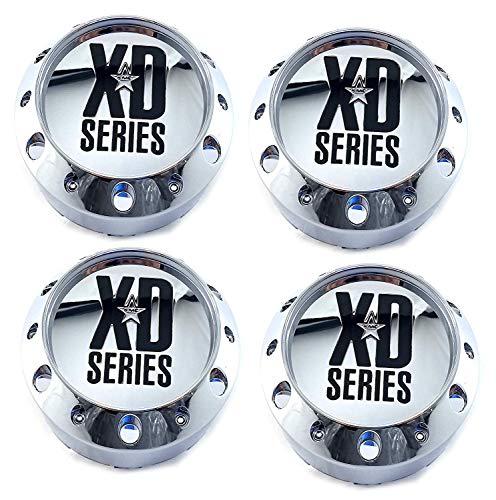 KMC XD Series Set (4pcs) XD Series Chrome Center Cap 464K106 Snap-in KMC XD779 XD786 -