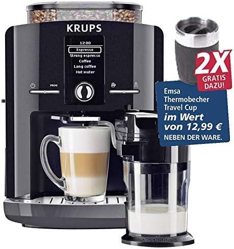 Krups EA8298.TC - Cafetera automática con 2 tazas de viaje: Amazon ...