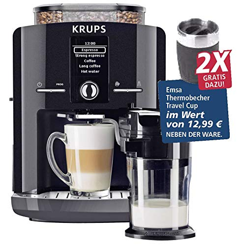 Krups EA8298.TC - Cafetera automática con 2 tazas de viaje ...