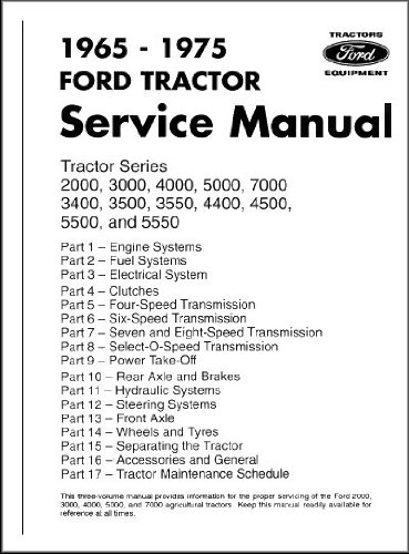 Ford Tractor Service Manual - Series 2000-7000 (Tractor Service Repair Manual Book)