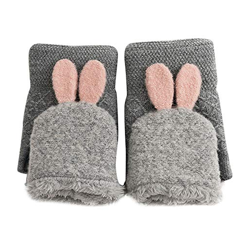 Christmas Decoration Hot Sale!!Kacowpper New Winter Rabbit Gloves Female Mittens Warm Flip Cover Gloves -