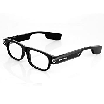 OOLIFENG Vidrios De La Cámara Espía 720P, HD Gafas Ocultas con Gran Angular Mini Cámara