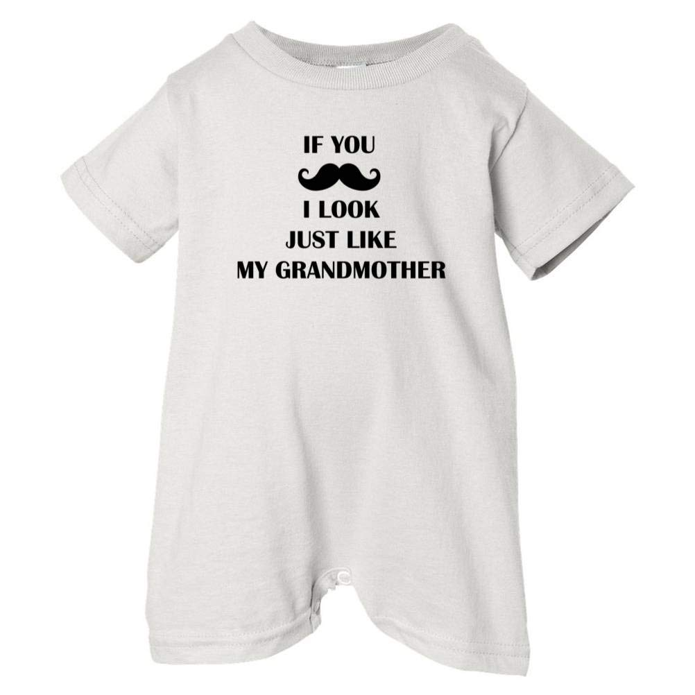 Unisex Baby Mustache Look Like Grandmother T-Shirt Romper So Relative