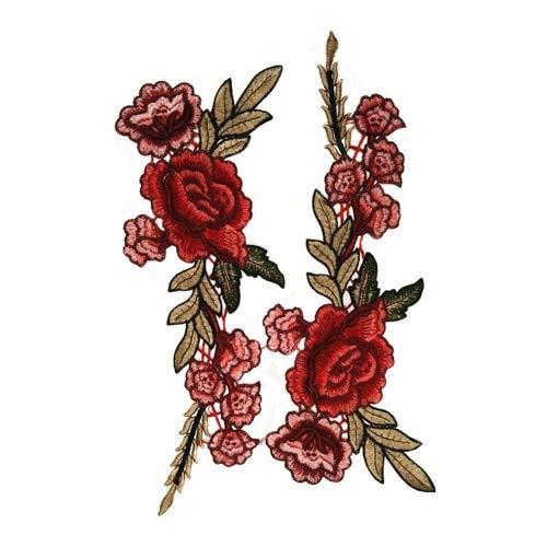 Shoppy Star Flor bordada apliques de encaje DIY parches para coser vestido de novia velo accesorios hechos a mano...