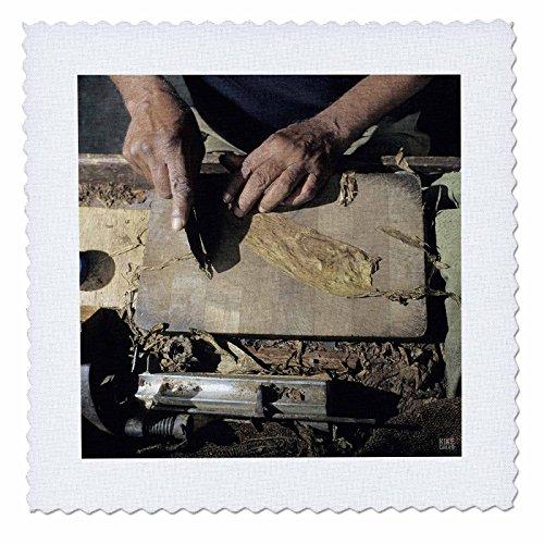 3dRose qs_37741_2 Cuban Cigar Maker. Pinar Del Rio Cuba-Quilt Square, 6 by 6-Inch