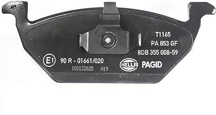 Hella Pagid 8db 355 008 591 Bremsbelagsatz Scheibenbremse Vorderachse Auto