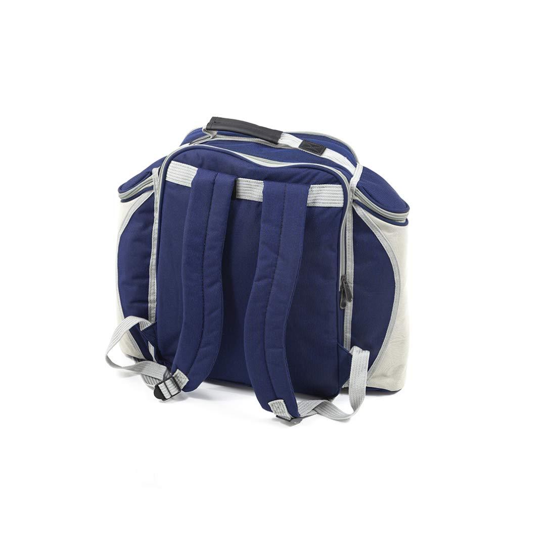 Greenfield Collection - Cesto Mochila de Picnic - Color Azul de ...