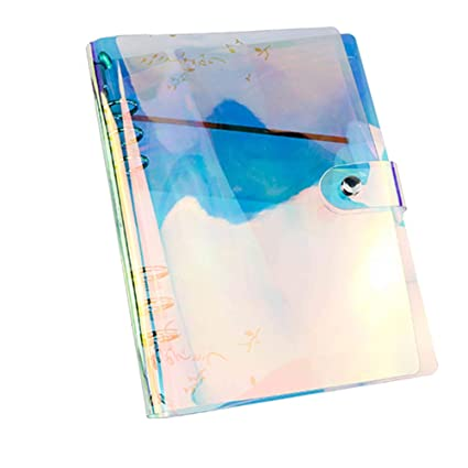 Carpeta de láser de color STOBOK A6 cubierta de PVC cuaderno ...