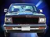 Fedar 82-90 Chevy S-10 Pickup/Blazer/S-10 Blazer/GMC S-15 Pickup/Jimmy/S-15 Jimmy Replacement Billet Grille Grill 1-pc Set-Black #320089
