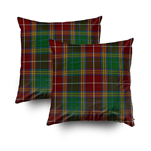 Baxter Sofa - Capsceoll 2PCS clan baxter tartan plaid Decorative Throw Pillow Case 16X16Inch,Home Decoration Pillowcase Zippered Pillow Covers Cushion Cover with Words for Book Lover Worm Sofa Couch