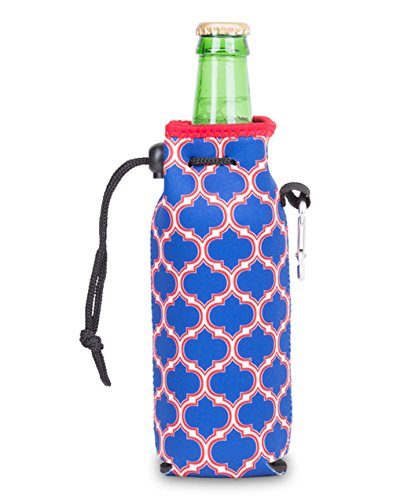 (Zees Inc The Cool Sack-Neoprene Np812 Moroccan Water Bottle Cooler, Blue/Red)