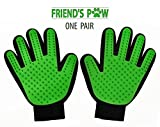 Pet Grooming Glove - Pet Deshedding Massage Glove, Brush Hair Remover Mitt, Perfect for Dogs & Cats friend's paw (pair)