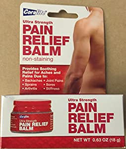[2 pack] Coralite Ultra Strength Pain Relief Balm - Non-Staining