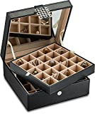Classic 50 Section Jewelry Box/Organizer / Case/Holder for Earrings, Rings, Cufflinks or Collections