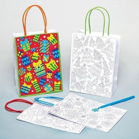 Baker Ross Kit con sacchetti regalo natalizi personalizzati per ...