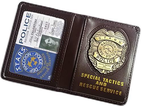 Resident Evil Biohazard S.T.A.R.S RPD Wallet Jill Valentine ID Holder | Chris Leon Wesker Cosplay