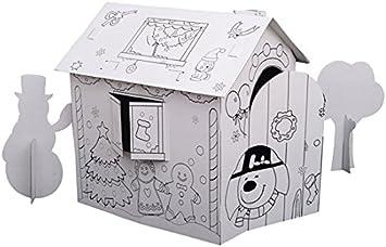 Homcom Maison En Carton A Construire Et A Peindre Maison De Jeu Enfant A Colorier Loisif Creatif Jouet Neuf 07 Amazon Fr Jeux Et Jouets