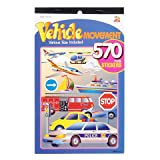 3 BOOKS of TRANSPORTATION Mini STICKERS - CARS Trucks Boats PLANES Helicopter etc (1710 total stickers) Kid's ACTIVITY/Craft