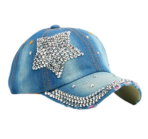 LONIY Denim caps Women Girl Men boy Rhinestone Crown Baseball Cap Woman Hip hop Snapback Hats