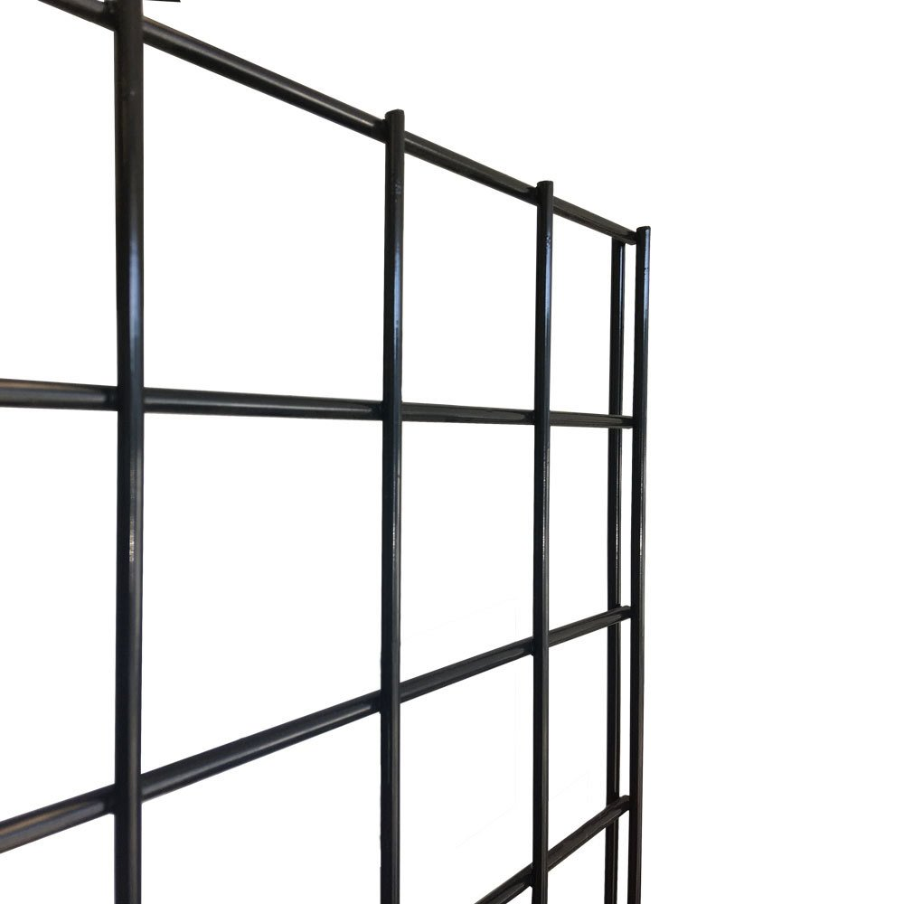 """Clothes Merchandise Display Grid Gridwall Wire Shelf 12/""""x24/"""" Black Lot of 8 New"""