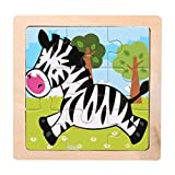 DDLmax Wooden Puzzle,Wooden Animal Puzzle Educational Developmental Baby Kids Training Toy