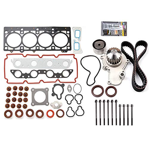 SCITOO Engine Timing Belt and Head Gasket Kit Fits 2000 2001 2002 2003 2004 2005 Dodge Neon 2.0L 1996CC 122Cu. in. l4 Gas SOHC
