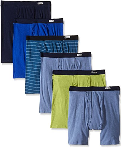 Fruit of the Loom Men's Boxer Briefs 100% Cotton Underwear (Assorted, XXX-Large / 48-50 Waist)