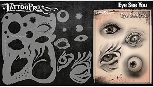 Tatuaje Pro Plantillas Serie 2 - El Ojo le ve: Amazon.es ...