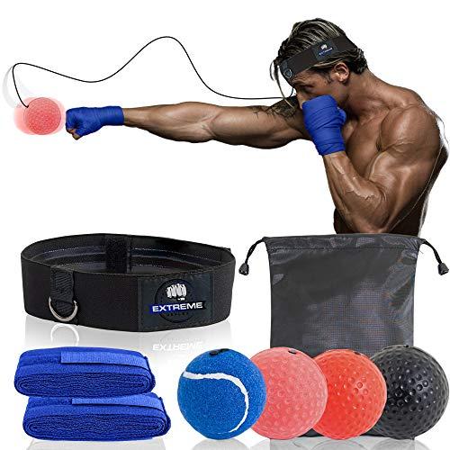 Extreme Reflex Boxing Reflex Ball Set – MMA Boxing Reflex Ball – Boxing Equipment Fight Speed, Boxing Punching Ball…
